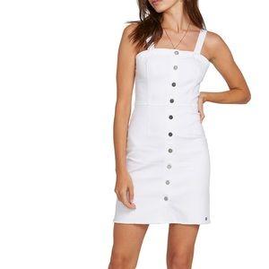Volcom white denim dress